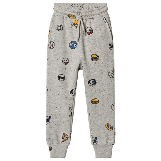 Soft Gallery Jules Pants Grey Black Neppy Emojo Big Grey Black Neppy AOP Emojo Big
