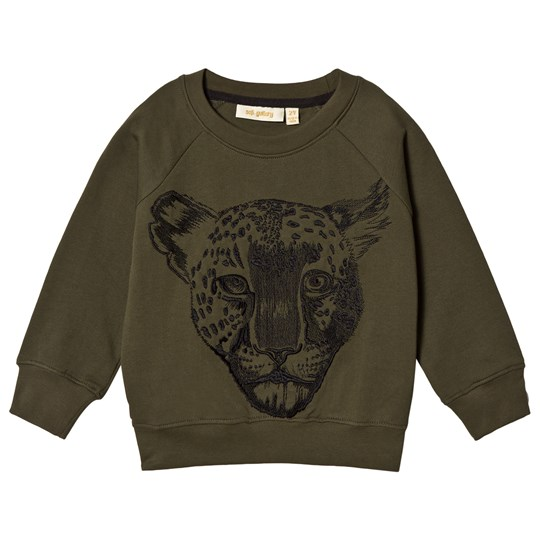Soft Gallery Chaz Sweatshirt Burnt Olive Leo Embroidery Burnt Olive Leo Emb.