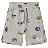 Soft Gallery Alisdair Neppy Emojo Print Shorts Grå/Svart Grey Black Neppy AOP Emojo Big