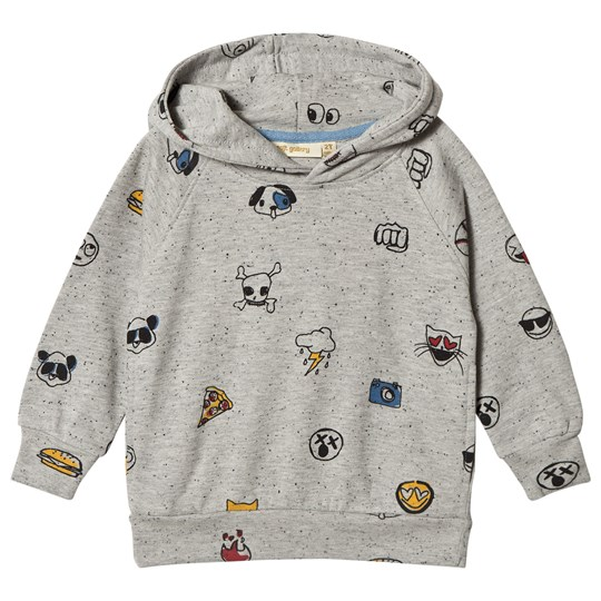 Soft Gallery Siggi Hoodie Grey Black Neppy Emojo Big Grey Black Neppy AOP Emojo Big