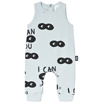 Little Man Happy I Can See You Jumpsuit Blue Washed blue with black
