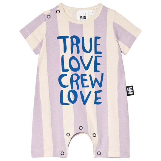 Little Man Happy True Love Crew Love Romper Lavender Beach yellow, lavender and blue
