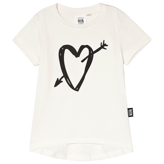 Little Man Happy Heartbreaker Longline T-shirt Vit White