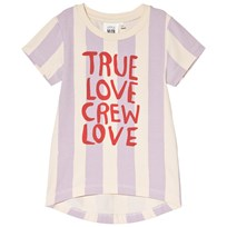 Little Man Happy True Love Longline T-Shirt Lavender Beach yellow, lavender and paprika