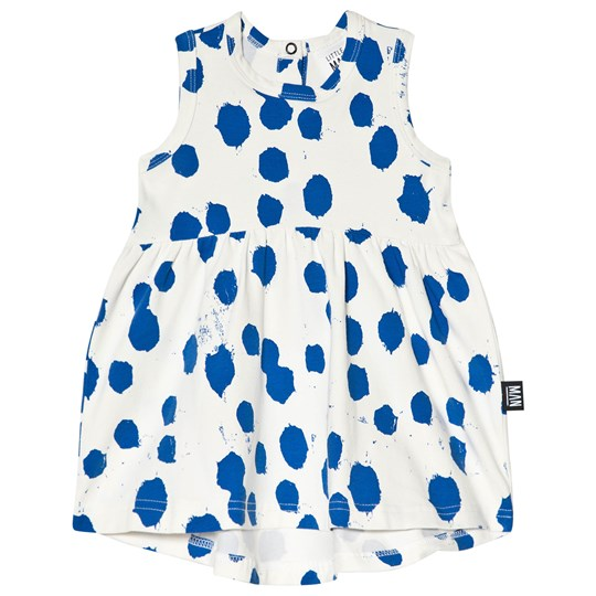 Little Man Happy Love Stain Dress White/Blue Marshmallow white and blue