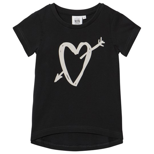 Little Man Happy Heartbreaker Longline T-Shirt Black Black
