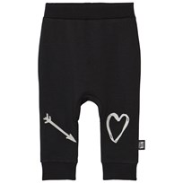Little Man Happy Heartbreaker Sweatpants Black Black with white embroidery