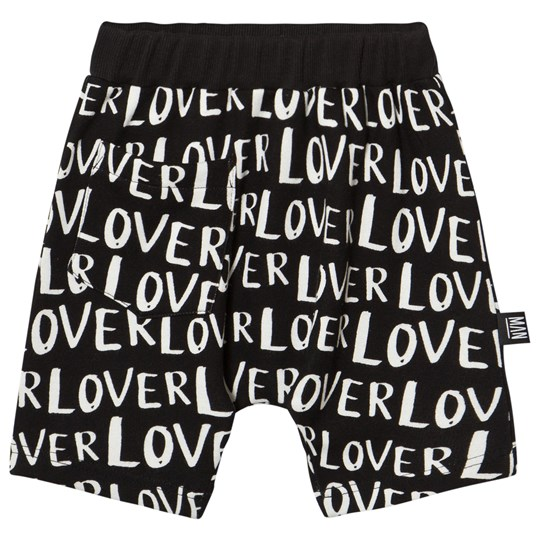 Little Man Happy Lover Hang Loose Shorts Black Black with white