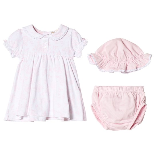 Mintini Baby Pink Dress, Pant and Hat Set Pink