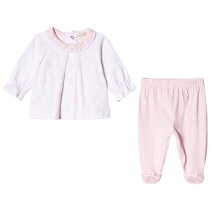 Image of Mintini Baby Pink and White Top with Pink Leggings 6 mdr (2964315531)