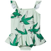 Mini Rodini Swallows Skirt Swimsuit Green Green