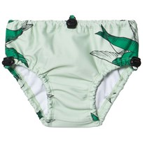 Mini Rodini Swallows Baby Swimpants Green Green