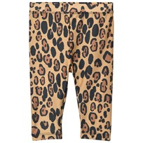 Mini Rodini Leopard Fancy Leggings Beige Beige