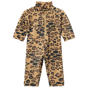 Image of Mini Rodini Leopard UV Rash Suit Beige 68-74cm (6-9 months) (2964314453)