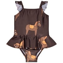 Mini Rodini Horse Skirt Baddräkt Brun BROWN