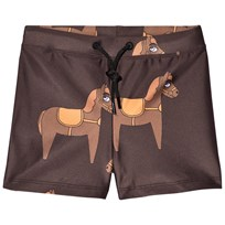 Mini Rodini Horse Swim Pants Brown BROWN