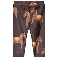 Mini Rodini Horse Fancy Leggings Brown BROWN