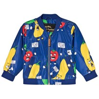 Mini Rodini Veggie Baseball Jacket Blue Blue