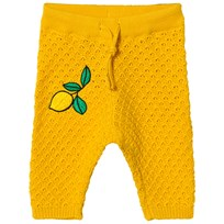 Mini Rodini Lemon Knitted Pants Yellow Yellow