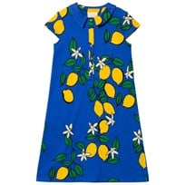 Mini Rodini Lemon Shirt Dress Blue Blue