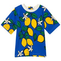 Mini Rodini Lemon Zip Tee Blue Blue