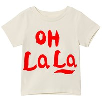 Mini Rodini Oh La La T-shirt Off White Offwhite
