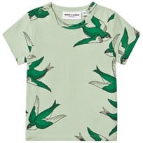 Mini Rodini Swallows T-shirt Grön Green