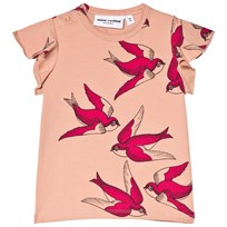 Mini Rodini Swallows Wing T-shirt Rosa Pink