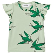 Mini Rodini Swallows Wing T-shirt Grön Green