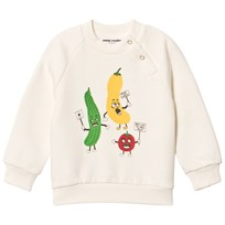 Mini Rodini Veggie Sp Sweatshirt White White