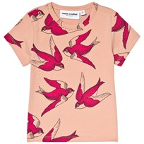 Mini Rodini Swallows T-shirt Rosa Pink