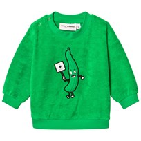 Mini Rodini Cucumber Terry Sweatshirt Green Green
