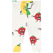 Mini Rodini Veggie Leggings Vit White