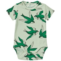 Mini Rodini Swallows Baby Body Green Green