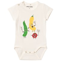 Mini Rodini Veggie Baby Body Vit White
