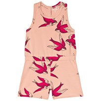 Mini Rodini Swallows Romper Pink Pink