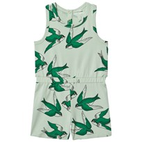 Mini Rodini Swallows Romper Green Green