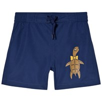Mini Rodini Turtle Swim Shorts Navy Navy
