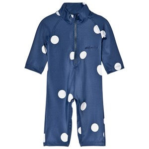 Image of Mini Rodini Dot UV Rash Suit Navy 68-74cm (6-9 months) (2964315909)