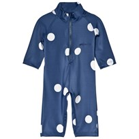 Mini Rodini Dot UV Rash Suit Navy Navy
