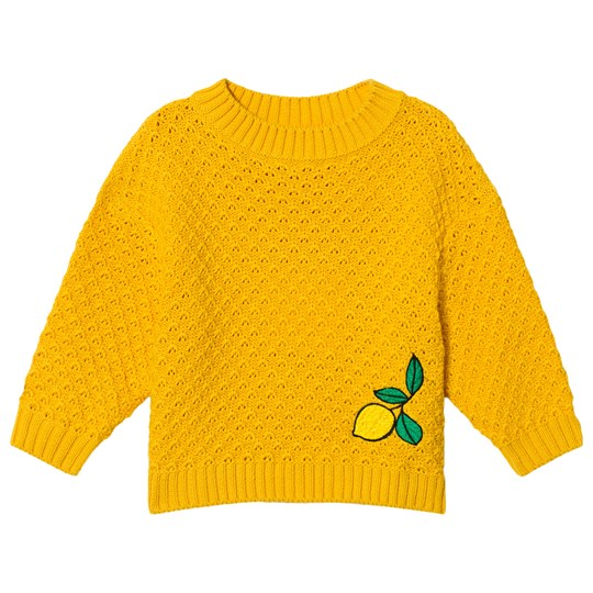 Mini Rodini Lemon Knitted Sweater Yellow Yellow