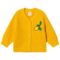Mini Rodini Lemon Knitted Cardigan Yellow Yellow