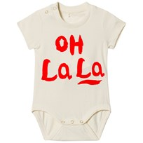 Mini Rodini Oh La La Baby Body Off White 白色