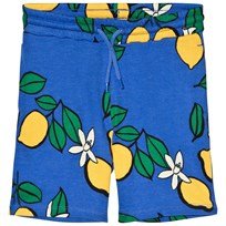 Mini Rodini Lemon Sweatshorts Blue Blue