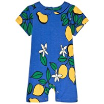 Mini Rodini Lemon Romper Blue Blue
