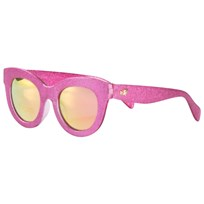 Monnalisa Fuchsia Glitter Sunglasses with Mirrored Lenses 95
