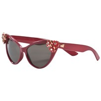 Monnalisa Red Flower Diamante Cat Eye Sunglasses 43
