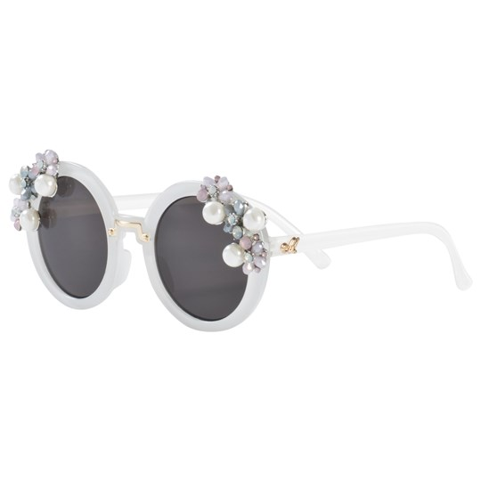 Monnalisa Pearl and Flower Detail Round Sunglasses 0190