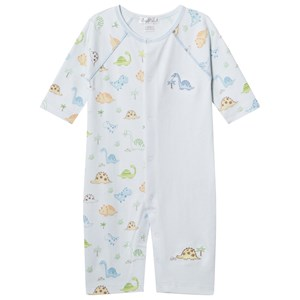 Image of Kissy Kissy Blue Dinosaur Printed and Embroidered Baby Body 0-3 months (2965217959)