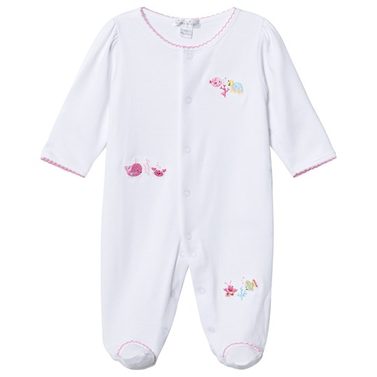 Kissy Kissy White Ocean Motif Embroidered Footed Baby Body WH/FU
